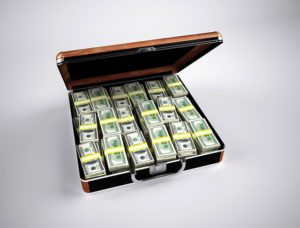 money in a briefcase