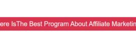 Best program on affiliate marketing