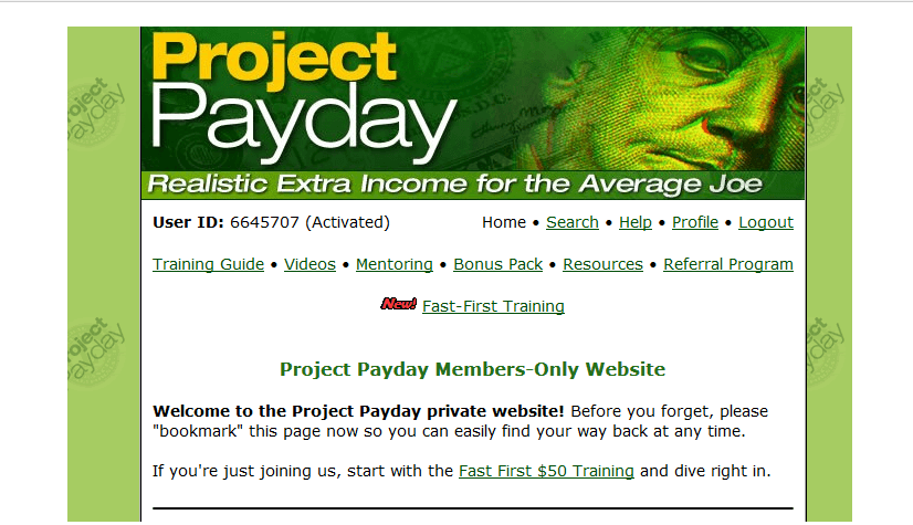 project payday banner