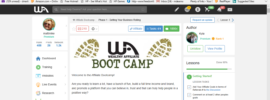 screenshot of bootcamp