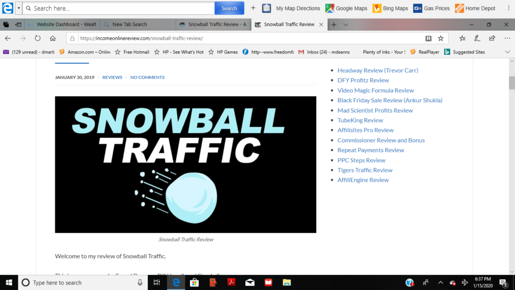 logo of snowball traffic