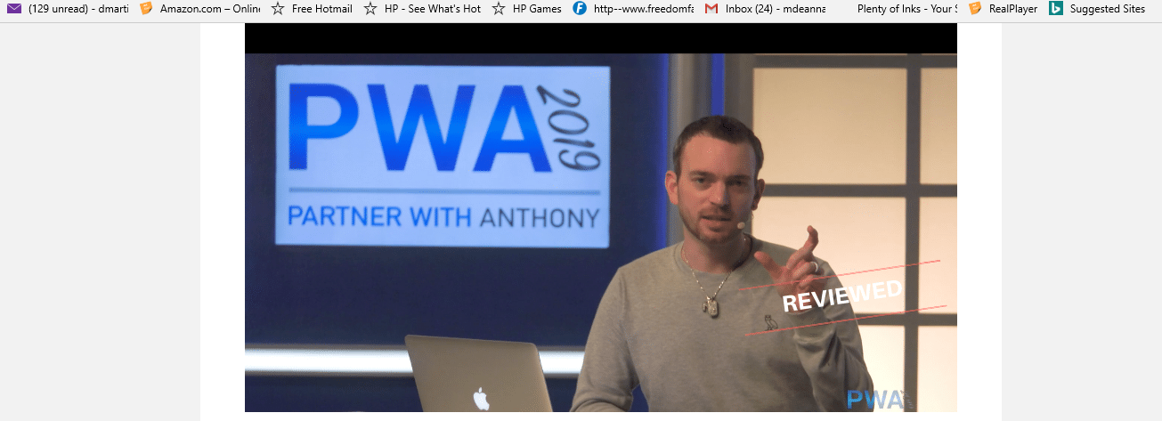 screen shot of partner with Anthony