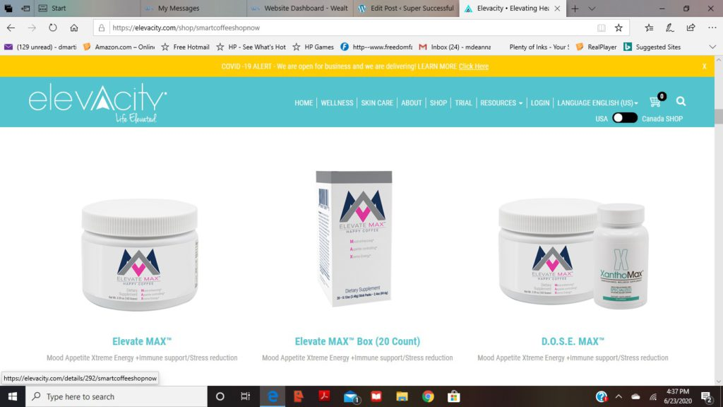 picture of elevocity products